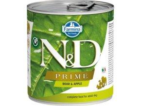 N&D DOG PRIME Adult Boar & Apple 285g  Kup 1ks a přidám ti 1ks ZDARMA!