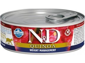 N&D CAT QUINOA Adult Weight Mnmgmt Lamb & Brocolli 80g  Kup 1ks a přidám ti 1ks ZDARMA!