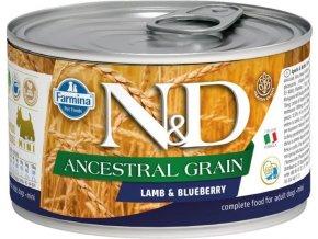 N&D DOG LOW GRAIN Adult Lamb & Blueberry Mini 140g  Kup 1ks a přidám ti 1ks ZDARMA!
