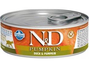 N&D CAT PUMPKIN Adult Duck & Pumpkin 80g  Kup 1ks a přidám ti 1ks ZDARMA!