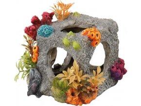 Dekorace do akvária - obydlená krychle 12x11x11cm Aqua Della