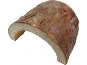 Dekorace přírodní - úkryt dřevo s kůrou Komodo 12x6x13cm