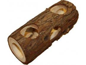 Dekorace přírodní - tunel dřevo s kůrou S Komodo 15x6x6cm