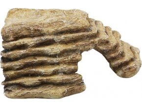 Dekorace umělá - rampa/úkryt roh S Komodo 20x18x10cm