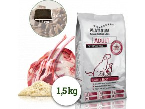 Platinum Adult Lamb+Rice 1,5kg