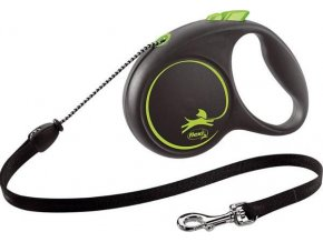 Vodítko FLEXI Black Design M lanko 5m/20kg zelená NEW