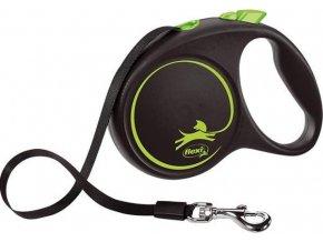 Vodítko FLEXI Black Design M pásek 5m/25kg zelená NEW