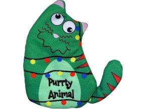 Hračka cat vánoč. Postava Purrty Kong