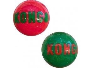 Hračka guma vánoč. Signature míč 2ks M Kong