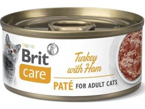 Brit Care Cat konz  Paté Turkey&Ham 70g