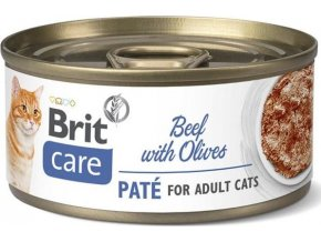Brit Care Cat konz  Paté Beef&Olives 70g