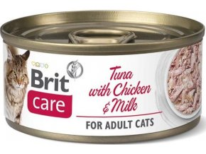 Brit Care Cat konz Fillets Chicken&Milk 70g