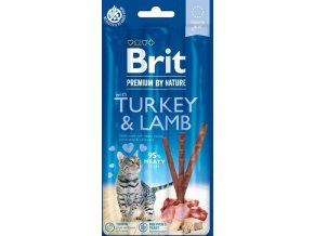 Brit Premium Cat by Nature Sticks Turkey&Lamb(3pcs)