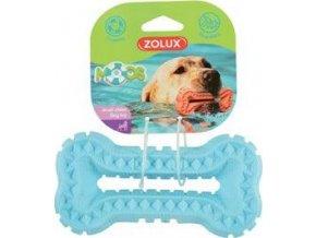 Hračka pes BONE MOOS TPR 16cm modrá Zolux