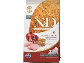 N&D LG DOG Puppy M/L Chicken & Pomegranate 12kg