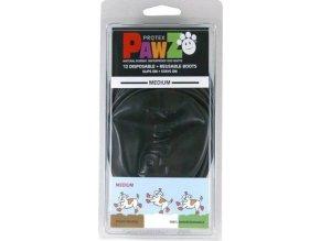 Botička ochranná Pawz kaučuk M černá 12ks