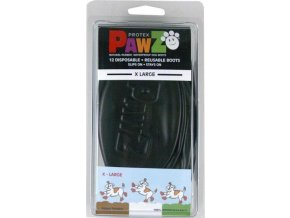 Botička ochranná Pawz kaučuk XL černá 12ks