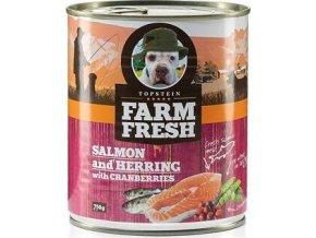 Farm Fresh Dog Salmon&Herring+Cranberries konzer 750g