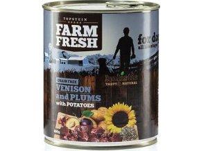Farm Fresh Dog Venision&Plums+Potatoes konzerva 800g