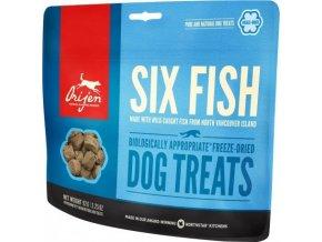 Orijen Dog  pochoutka F-D Six Fish Treats 92g