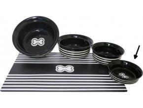 Miska keramická Kost - černo/bílá RW 12,5 cm