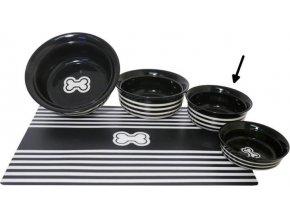 Miska keramická Kost - černo/bílá RW 15 cm