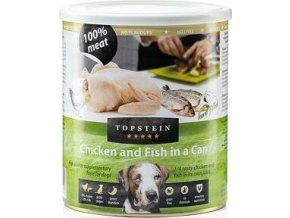 Topstein  Kuře s rybou v plechu 800 g