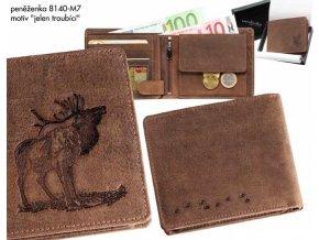 """Myslivecká peněženka 40   -motiv """"jelen troubící"""""""