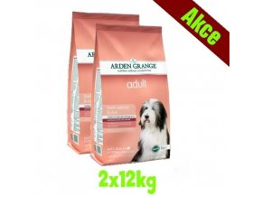 Arden Grange Adult rich in fresh salmon & rice 2x12 kg
