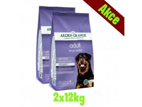 Arden Grange Adult Large Breed with fresh chicken & rice 2x12 kg