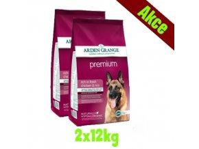 Arden Grange Premium rich in fresh chicken 2x12 kg