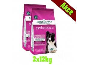 Arden Grange Performance rich in chicken & rice 2x12 kg