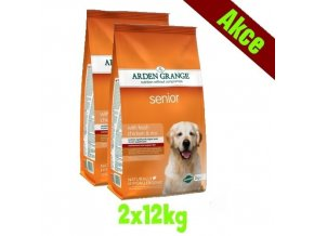 Arden Grange Senior with fresh chicken & rice 2x12 kg