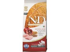 N&D Low Grain DOG Adult Chicken & Pomegranate 12kg