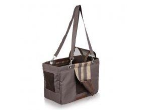 Cestovní taška MAJA hnědo/béžová 18x25x36 cm