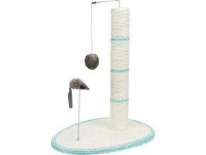 Škrábadlo válec 50cm+míč, myš+pružina na podestě 40x30cm