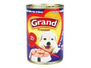 GRAND konzerva štěně speciální mas.směs 405g