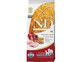 N&D Low Grain DOG Senior M/L Chicken & Pomegr 12kg
