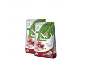 N&D Grain Free DOG Adult Chicken & Pomegranate 2x12kg