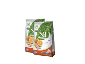 N&D Grain Free DOG Adult Fish & Orange 2x12kg