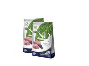 N&D Grain Free DOG Adult Lamb & Blueberry 2x12kg