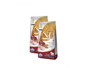 N&D Low Grain DOG Adult Maxi Chicken & Pomegranat 2x12kg