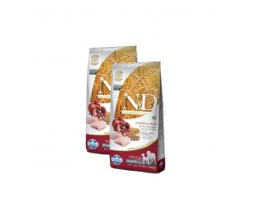 N&D Low Grain DOG Senior M/L Chicken & Pomegr 2x12kg
