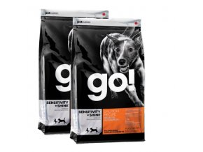 PetCurean GO Sensitive + Shine Salmon 2x11,33kg