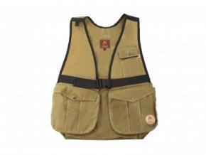 Firedog Dummy vesta Hunter z voskované bavlny světlá khaki