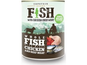Topstein Fish with Chicken & beef meat 800g