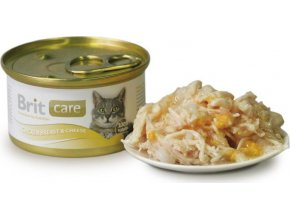 Brit Care Cat konz.kuřecí prsa & sýr 80g