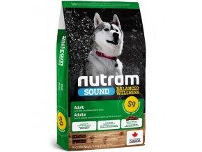 s9 nutram sound adult dog lamb pro dospeleho psa z jehneciho masa