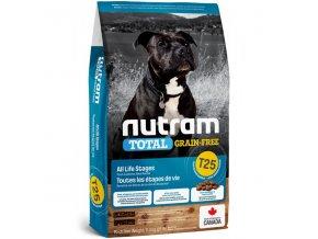 t25 nutram total grain free salmon trout dog bezobilne krmivo losos a pstruh pro psy