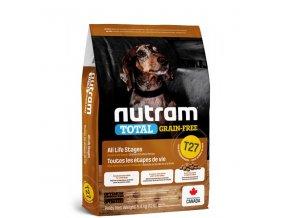 t27 nutram total grain free turkey chicken duck dog bezobilne krmivo kruta kure a kachna pro psy malych plemen